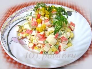 Салат из крабовых палочек. (Весенняя вариация)
