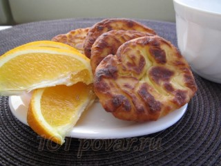 Сырники (творожники) с апельсином