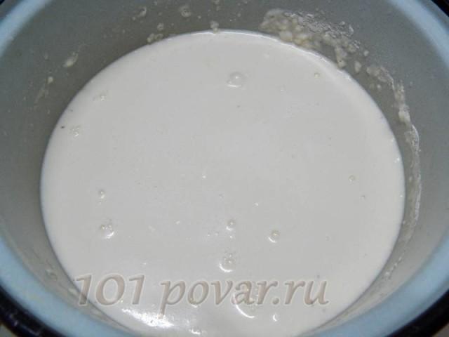 Проверяем количество соли и сахара. Ставим в холодное место ориентировочно на 30 минут.