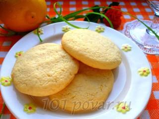 Лимонное печенье в духовке