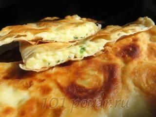 Кутабы с сыром или ленивые чебуреки из лаваша
