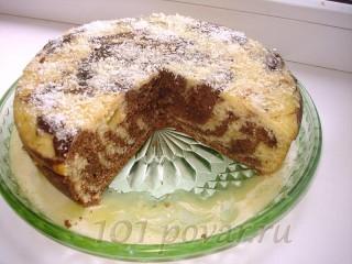 Мраморный торт в мультиварке