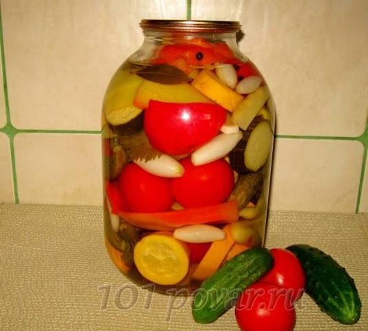 Овощное ассорти в маринаде