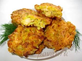 Куриные котлеты с овощами «По-гавайски»