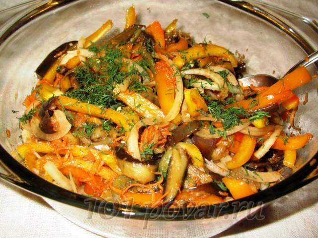 орошо перемешать и отправить в холодильник - для того, чтобы получить феерию вкуса, нужно немного подождать, пока все овощи между собой поменяются вкусами и ароматами